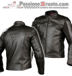 best loved 8835f 12d1e Dettagli su Giacca pelle Dainese Razon Nero taglia 56 leather jacket black