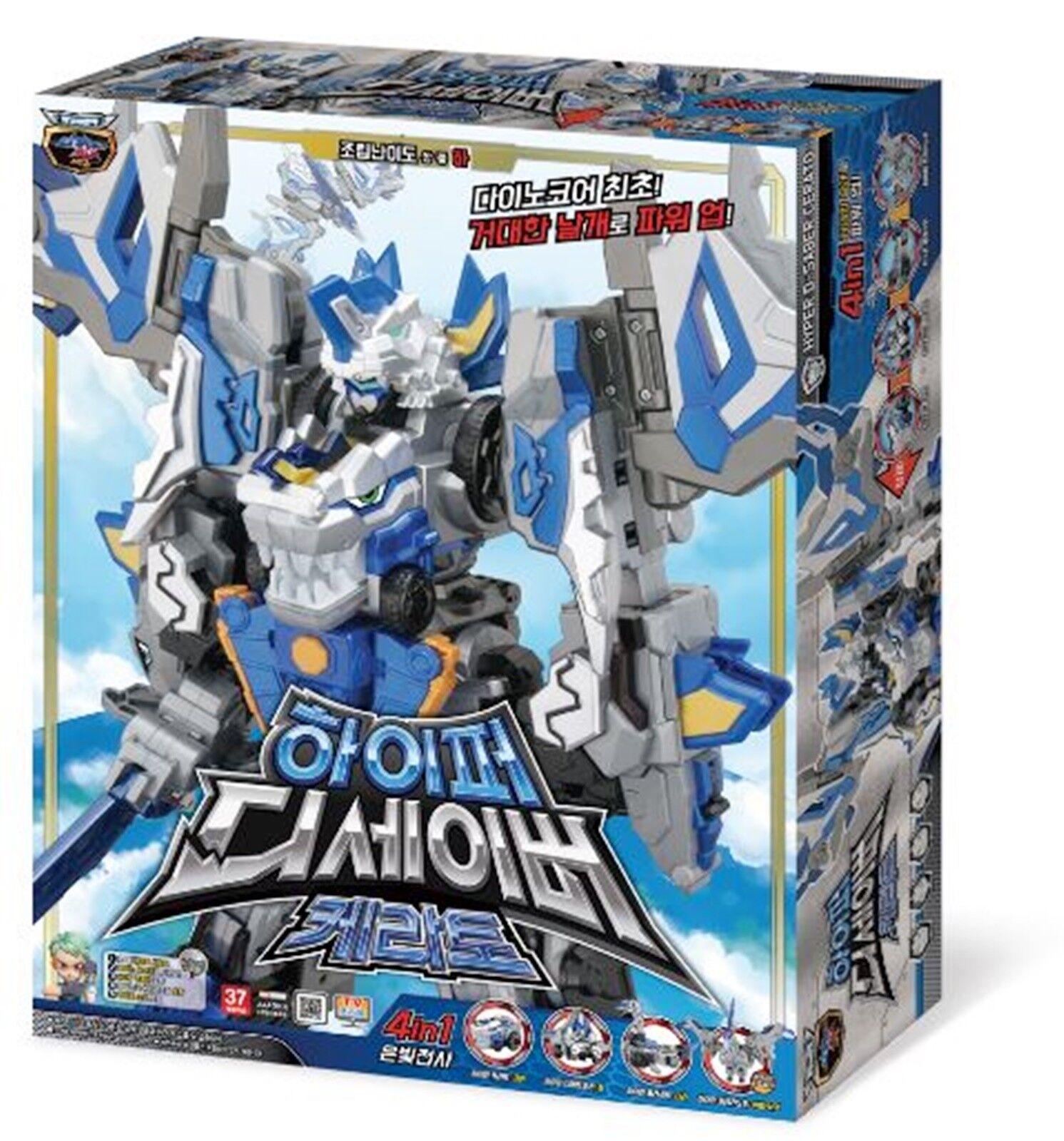 Dino Core HYPER D-SABER CERATO 4 Dinosaur Copolymers Transformer Robot Kids Toy