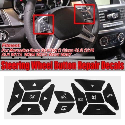 Steering Wheel Button Repair Kit Decals Sticker For Mercedes W204 E C G Class