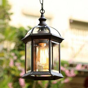 Outdoor Pendant Light Black Lamp Gl
