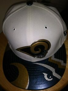 10dc0f8766f Los Angeles Rams Hat White NFL New Era Team Logo Cap ONSTAGE 59FIFTY ...