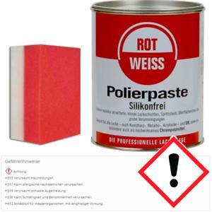 rot weiss rotweiss polierpaste 750ml kunstharz politur 1000 top profi schwamm ebay. Black Bedroom Furniture Sets. Home Design Ideas