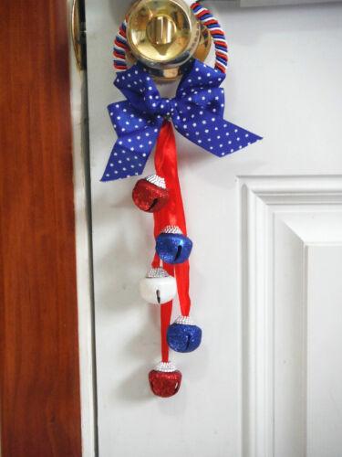 4TH OF JULY DECOR DOOR KNOB HANGER ..PATRIOTIC DOOR KNOB HANGER,,