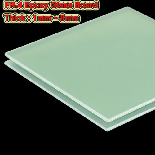 FR-4 Epoxy Glass Board Glassfibre Plate Sheet Thick 1.0mm to 8mm High TEMP 155℃
