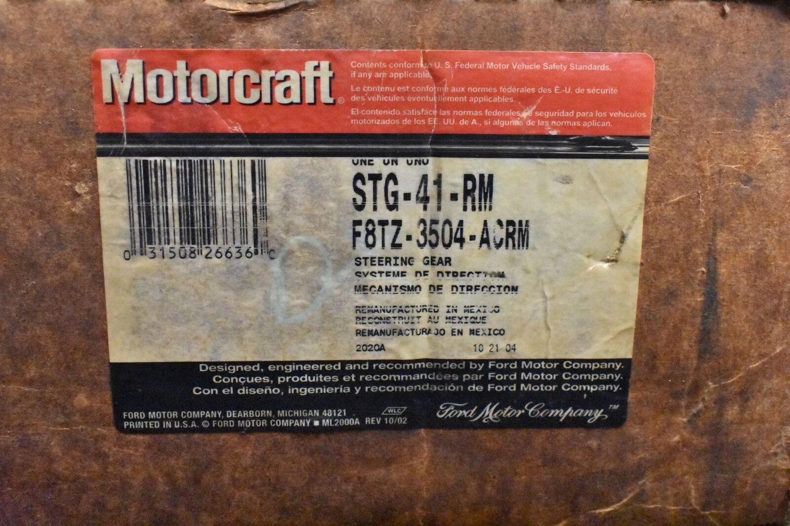 Motorcraft STG41RM Remanufactured Steering Gear