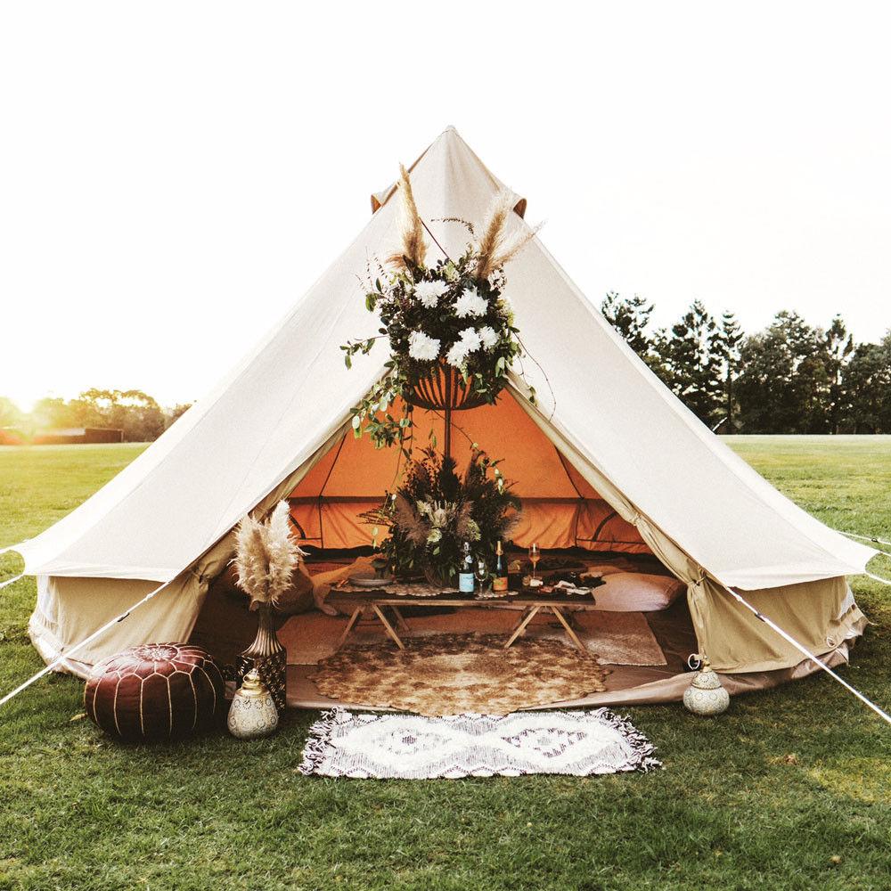 UNISTRENGH 3M Camping Bell Tent Waterproof Canvas Wanderzelt Yurt Teepiee