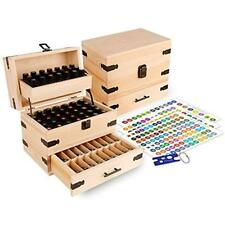 Item 7 Wooden Essential Oil Multi Tray Organizer Holds 74 Oils Free Shipping