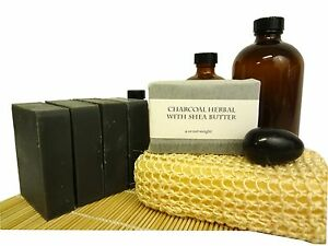 Charcoal-Herbal-Soap-Shea-amp-Activated-Charcoal-black-soap-1-3-8-10-40-72-bar