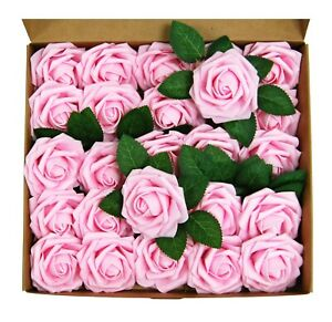 25-50pcs-Foam-Artificial-Rose-Heads-Flowers-Wedding-Bride-Bouquet-Home-Decors