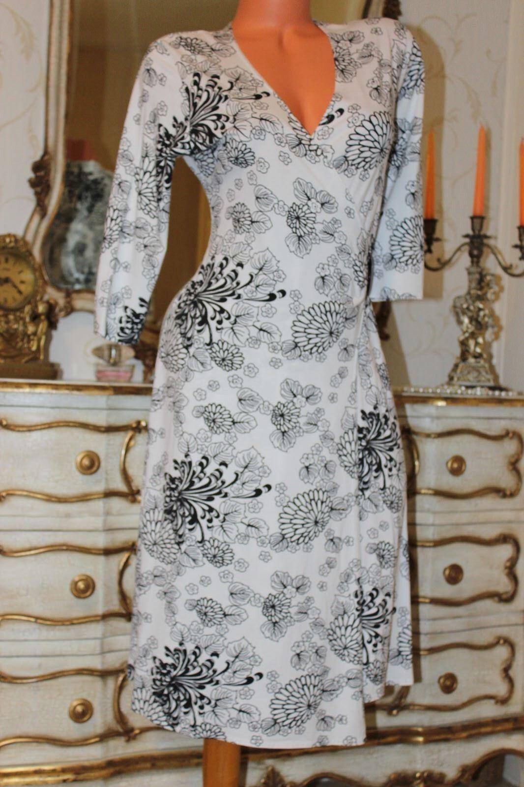 (Ref 19) Joella Di Marco Viscose Mix Ladies Elasticated schwarz&Weiß dress Größe M