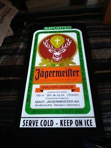 Jagermeister Lighted Bar Sign LED light up Tavern sign Ice Cold Shots W/ Deer