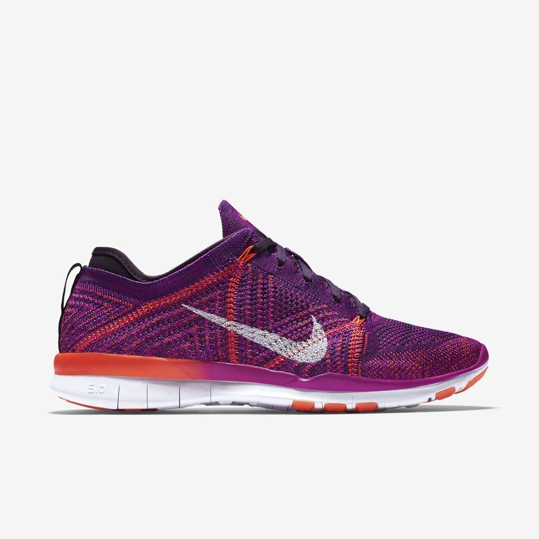 Nike Free TR Flyknit White/Total Crimson/Purple 502 Womens Shoes Multiple Sizes