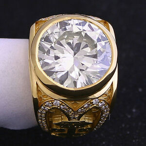 8 08 Ct Round Diamond Gia N Vs2 Ring Mens Custom Unique