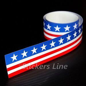 Fascia-adesiva-AMERICANA-cm-120-X-10-striscia-adesiva-america-bandiera-americana