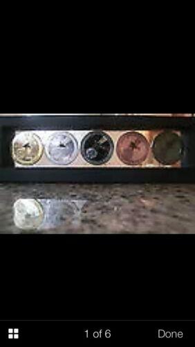 5pc Sikhote-Alin meteorite medal coins set