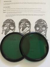 S10 GAS MASK  RESPIRATOR GREEN LENSES OUTSERTS
