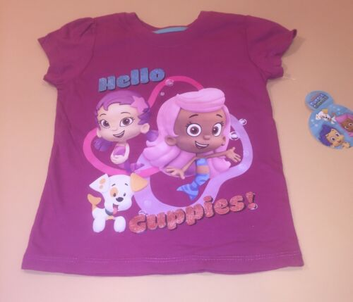 Bubble Guppies Toddler Girl Hello Guppies Shirt Top New 3T