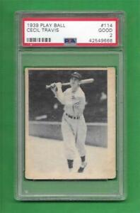 1939-Play-Ball-114-Cecil-Travis-PSA-Good-2-Washington-Senators-baseball-card