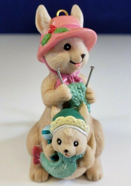 Vintage 1992 Enesco HOPPY Holidays Kangaroo Baby Knitting ...