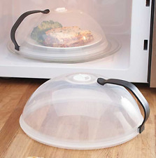 Microwave Plate Cover For Cooking Food Dish Splatter Guard Lid With Handle Set