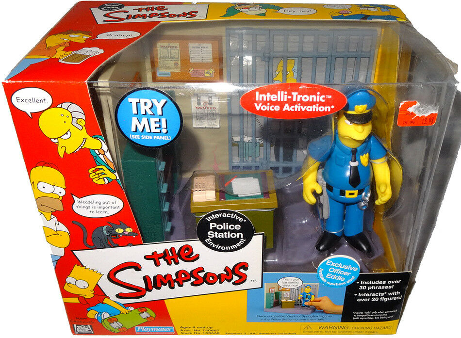 Simpsons Police Station Playset Environment WOS MIB Officer Eddie RARE Toy