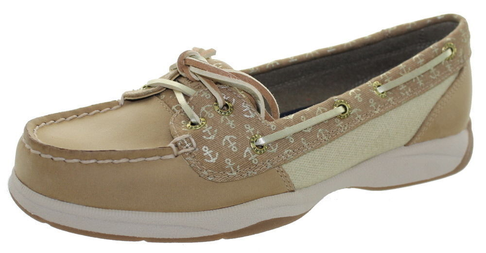 SPERRY TOP SIDER LAGUNA LINEN SAND SAND LINEN GOLD LEATHER BOAT SHOES STS97397 SIZE 5 m eaca3c
