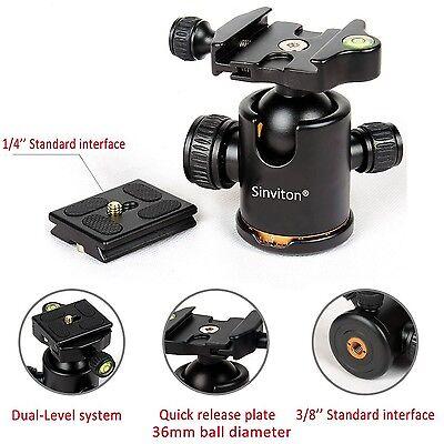 Sinvitron Qzsd-02 Aluminum Tripod Ball Head Ballhead + Quick Release Plate Pr...