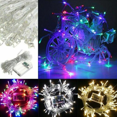 2-10m LED Battery Powered Fairy String Lights Christmas Party Bedroom DIY Decor