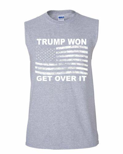 Trump Won Get Over It Muscle Shirt MAGA President USA Republican Sleeveless
