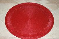 Bella Lux Glass Beaded Holiday Spiral Placemats - Red - Set Of 4