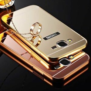 Luxe-Aluminium-Bumper-Etui-Metal-Housse-Miroir-Arriere-Coque-Pour-Samsung-Galaxy