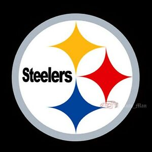 2x car door pittsburgh steelers logo projector puddle shadow led rh ebay com  free steelers logo pictures