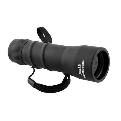 New Black 22x32 Single HD High Magnification Pocket Size Monocular Telescope