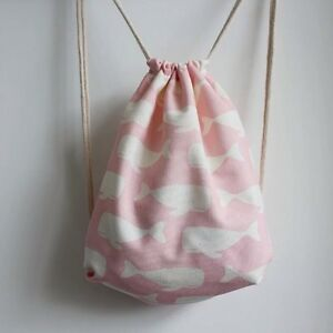 Pink-whale-Duck-backpack-shoulder-bag-with-drawstring-birthday-Christmas-gift