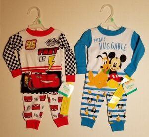 Disney Cars Toddler Boys 2pc Pajama Set  Size 18M or 2T NWT