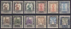 "Libia 1921 ""Pittorica"" d.14 serie 12 val. nuova MNH** gomma integra A.V. Sorani"
