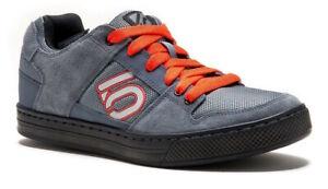 Five-Ten-5-10-Freerider-Mountain-Bike-Shoes-Gray-Orange-Size-9