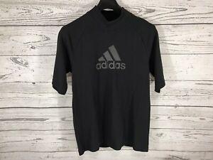 Adidas-Mens-Black-ID-Winter-Tee-Mock-Neck-Short-Sleeve-Shirt-Size-Medium-NWT