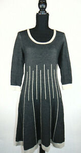 Nine-West-Womens-Skater-Dress-Dark-Grey-Autumn-Winter-Warm-Size-Small