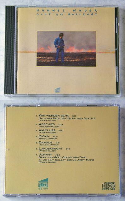 HANNES WADER Glut Am Horizont .. Rare 1985 CD No Barcode