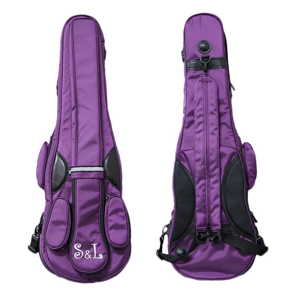 Paititi S&L Triangular Full Größe Violin Soft Bag Backpack Style lila Farbe