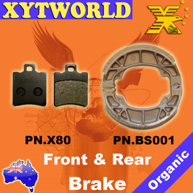 FRONT REAR Brake Pads Shoes for Honda SXR 50 W/SW/X/SX 1998-1999