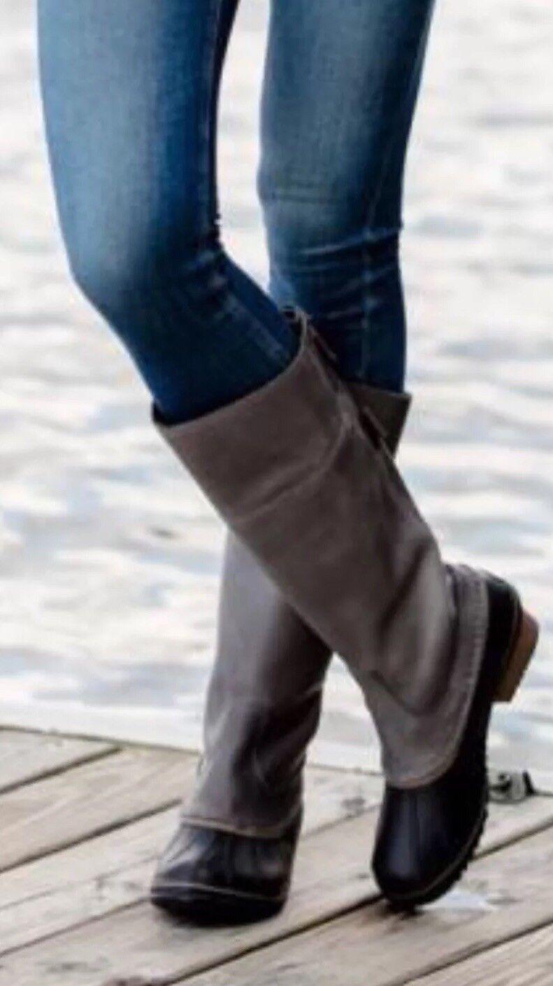 in cerca di agente di vendita SOREL Slimpack II Tall 8.5 8 7.5 7.5 7.5 Quarry Pebble Leather Waterproof Riding stivali  alta quaità