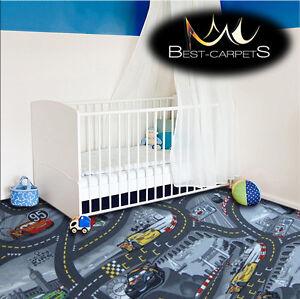 CHILDREN-039-S-CARPET-CARS-grey-Disney-Kids-Bedroom-Rug-ANY-SIZE-Play-Room-Pixar