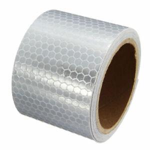 Warnaufkleber-Reflektorfolie-Reflektorband-Klebeband-Weiss-Wabenmuster-30cmx5cm
