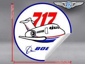BOEING-717-B717-VINTAGE-PUDGY-STYLE-ROUND-DECAL-STICKER
