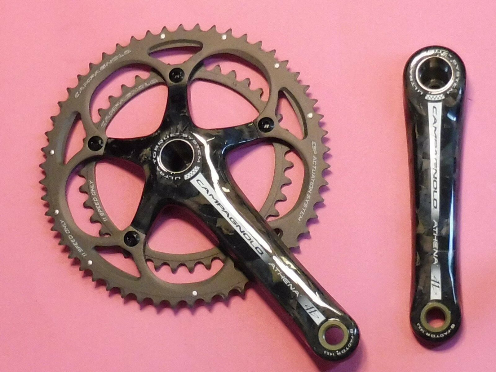 Campagnolo Athena  Carbon ( U.Tq ) 2010 175   39.53 Chainset - NOS  discount