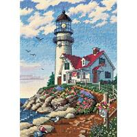 Counted Cross Stitch Kit Beacon At Rocky Point Dimensions Gold Collection