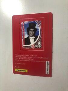 2021 Tessera Filatelica Plastic Card Rino Gaetano