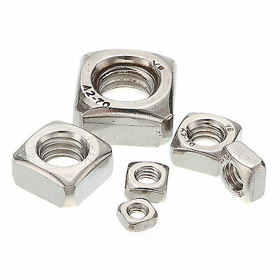 25*M3//M4//M5//M6//M8//M10//M12 Stainless Steel 304 Square Nuts For Screws Bolt DIN557